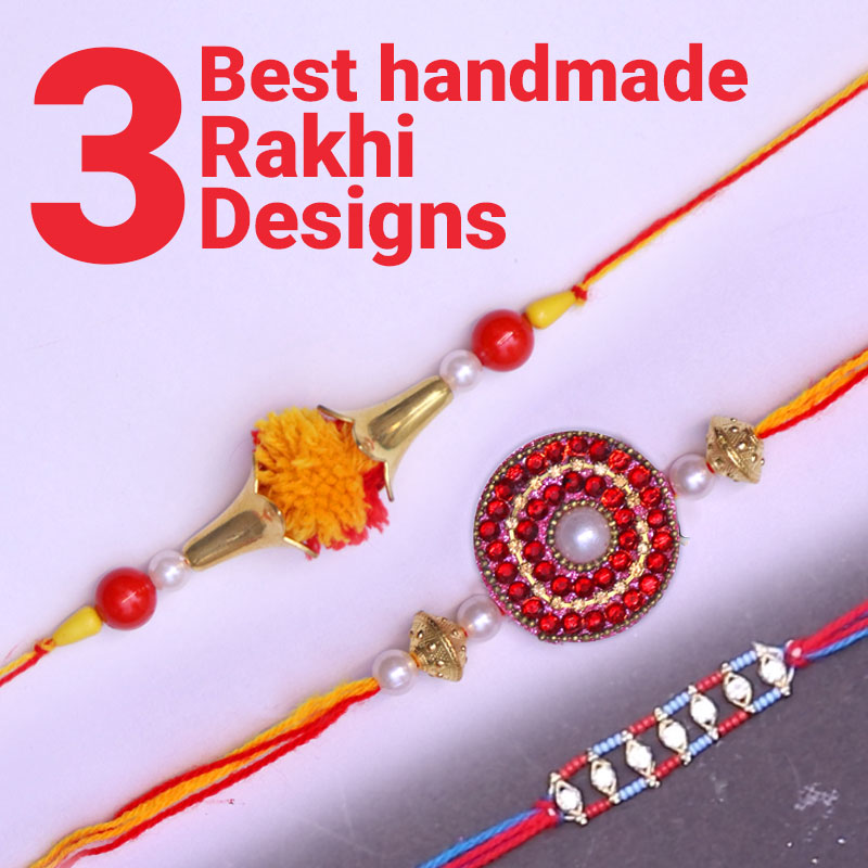 easy handmade rakhi design
