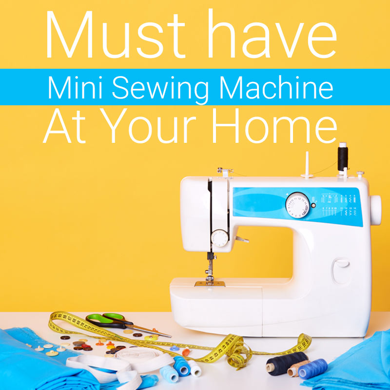 Mini sewing machine at home