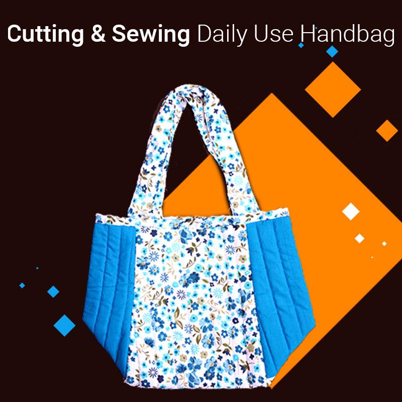 Sew handbag at home